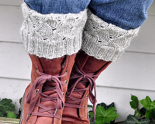 1a09f3498e22c Ravelry  Squishy Lace Boot Cuffs pattern by Wendy Prager Goeckner