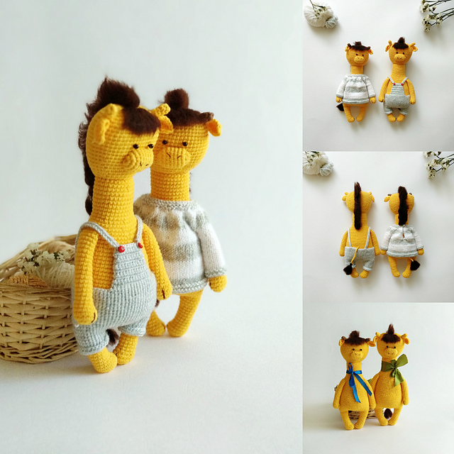 Indie Design Gift Along 2018 Toys Crochet Giraffes