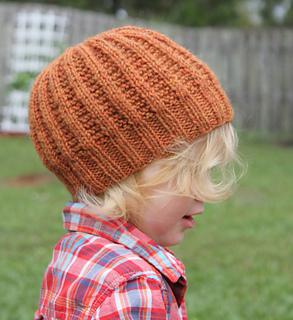 a123a7766 Garter Rib Hat pattern by Brooke Snow
