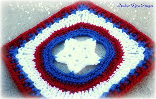 Ravelry Grannys Shining Star Square Pattern By Elena Hunt