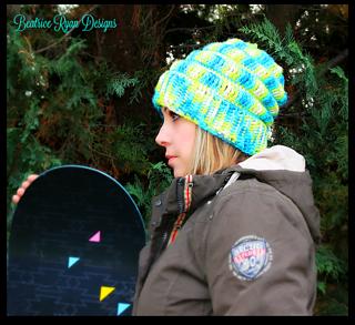patterns   Beatrice Ryan Designs  The Love of Crochet.   Snowboarders  Slouchy Hat 49efc2c2c2c