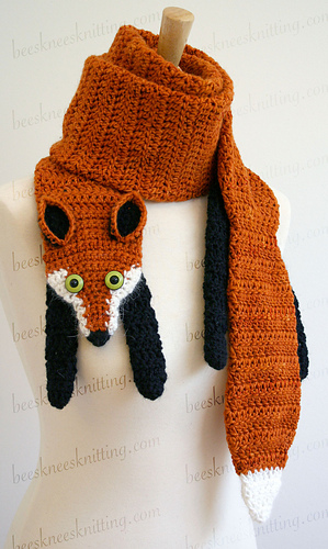 Ravelry Fox Scarf Pattern By Bees Knees Knitting