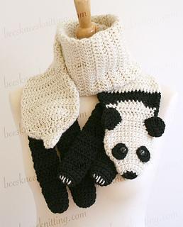 Ravelry: Panda Scarf Crochet Pattern pattern by Bees Knees ...