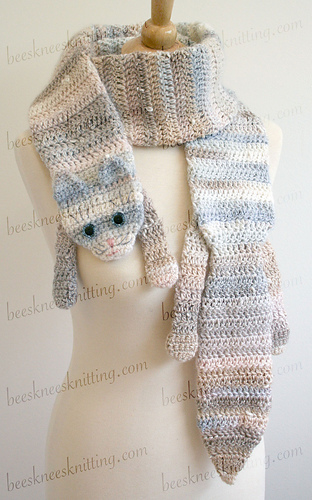 Ravelry: Calico Cat Scarf Pattern pattern by Bees Knees Knitting