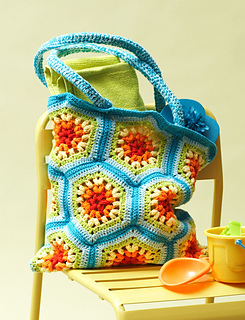 Ravelry: Rainbow Hexagon Beach Bag pattern by Lily / Sugar'n Cream