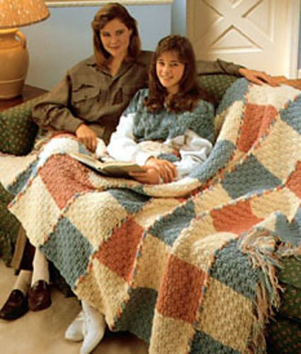 Ravelry Basketweave Afghan Pattern By Caron Design Team