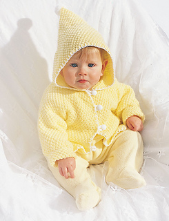 3663bcb607d7 Ravelry  Hooded Baby Jacket pattern by Bernat Design Studio
