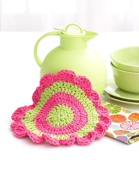 Ravelry Daisy Wheel Dishcloth Pattern By Lily Sugarn Cream And