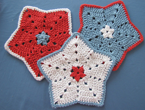Ravelry Little Star Dish Cloth Or Wash Cloth Pattern By Elizabeth