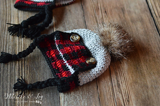 Ravelry Baby Plaid Trapper Hat Pattern By Bethany Dearden