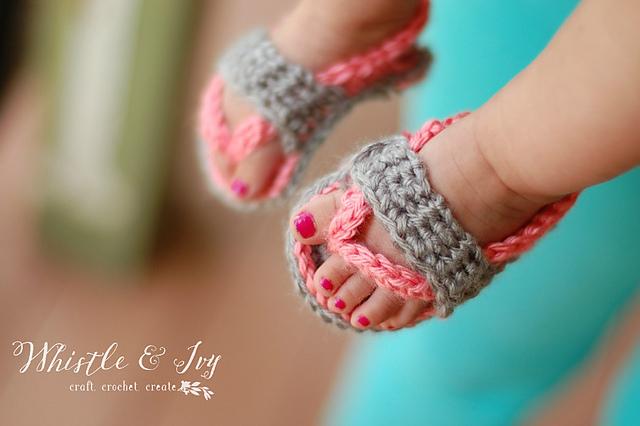 9efd3369f Ravelry  Baby Strap Flip-Flops pattern by Bethany Dearden