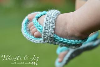 c253402c7631 Ravelry  Baby Strap Flip-Flops pattern by Bethany Dearden