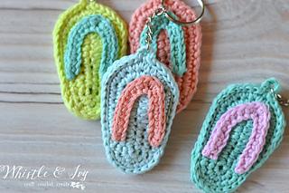 487a07f48 Ravelry  Flip-Flop Keychain pattern by Bethany Dearden