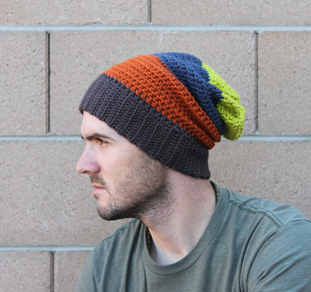 Ravelry: Mens Slouchy Beanie pattern by Beth Kelly