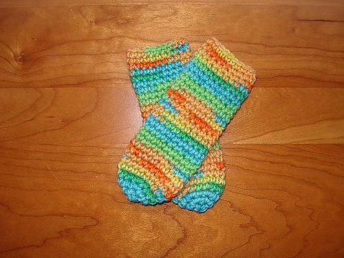 Ravelry Bevs Crocheted Baby Tube Socks Pattern By Beverly A Qualheim