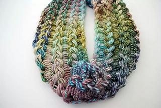 Ravelry Braided Hairpin Lace Infinity Scarf Pattern By B