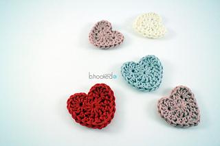 Ravelry sweet heart applique pattern by b hooked crochet
