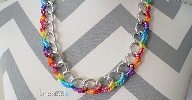 Ravelry: Curb Chain Necklace pattern by B.hooked Crochet