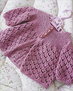 feb8d1bd8 Ravelry   Sweet Violet  Lacy Matinée Set pattern by Rita Taylor