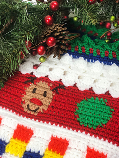 ravelry ugly christmas sweater blanket cal pattern by elizabeth mareno - Ugly Christmas Decorations