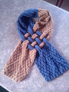 Ravelry Celtic Knot Looped Scarf Pattern By Patricia Everett