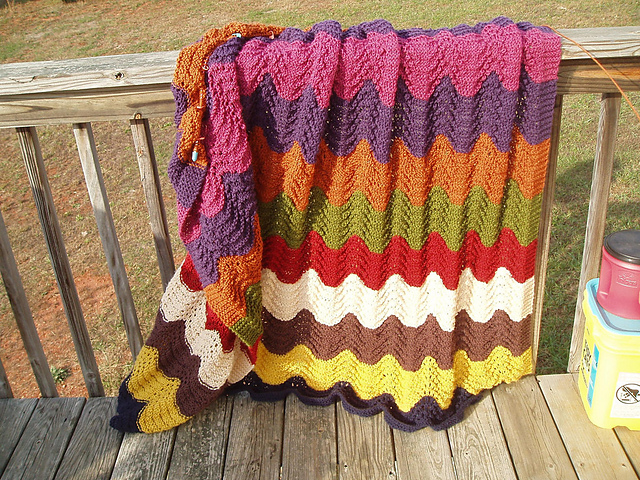 Ravelry Feather And Fan Afghan Pattern By Jennifer P