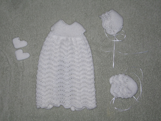 Ravelry Bonnet To Match Knit Burial Gown Pattern By Ellie