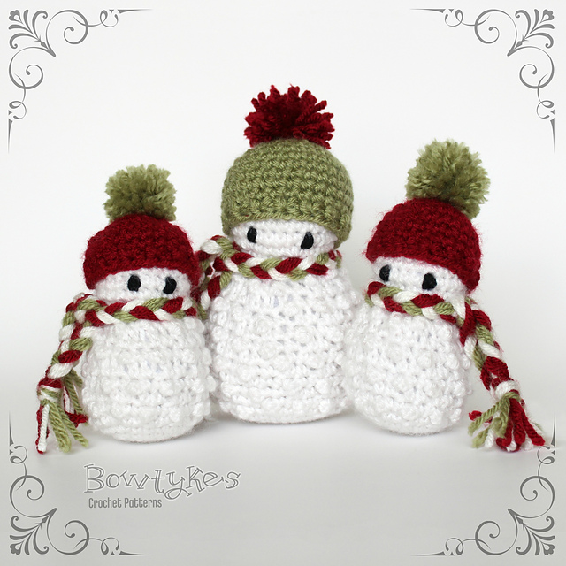 Ravelry Scarfed Snowman Pattern By Briana Olsen