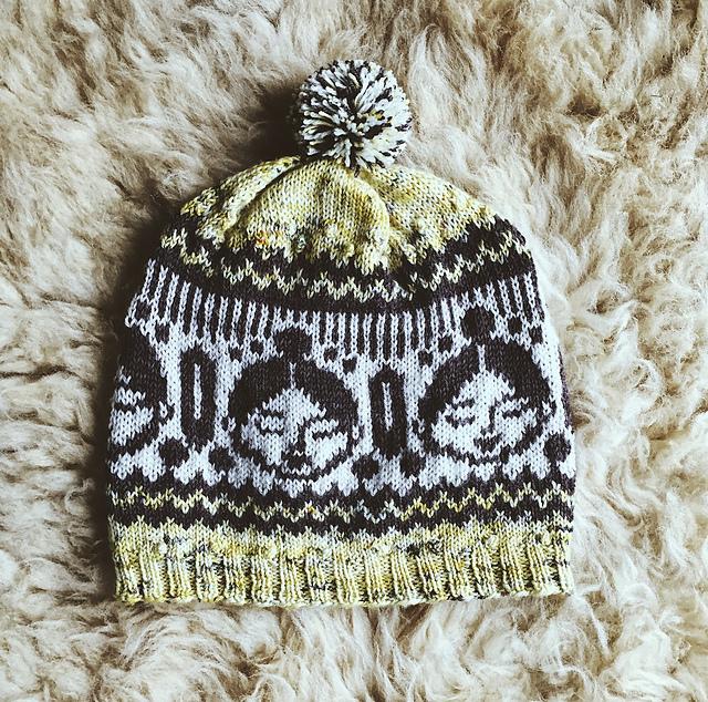 Modèle de tuque tricotée Lilou par Caitlin Hunter