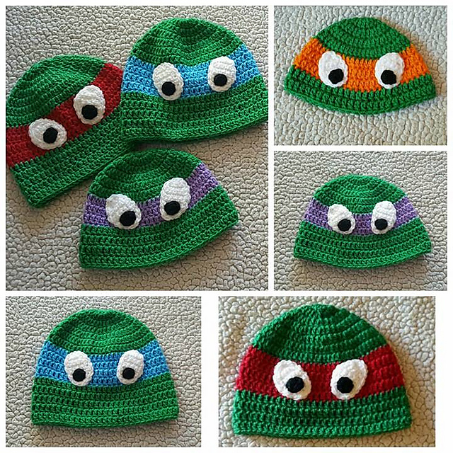 Ravelry Ninja Turtle Hat Pattern By Brooke Rabideau