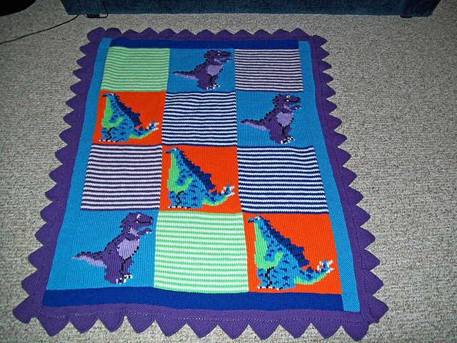 Ravelry Dinosaurs Blanket Pattern By Patons