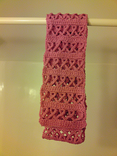 Ravelry Crochet Awareness Ribbon Scarf Pink For Breast