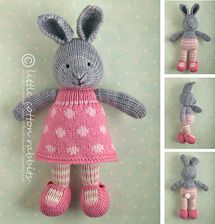 Ravelry bunny girl in a dotty dress pattern by julie williams dt1010fo