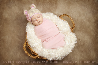 41558c135 Ravelry  Sugar Bear Baby Beanie Photo Prop Hat pattern by Buttercup ...