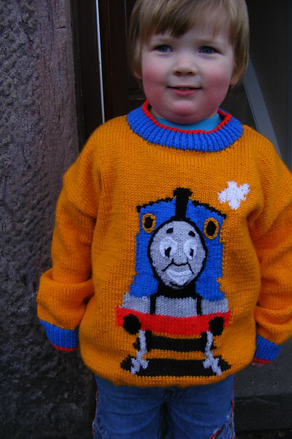 Ravelry Thomas The Tank Engine Sweater Pattern By Alan Dart And