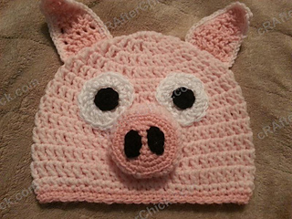 Three_little_pig_storytime_crochet_beanie_pattern_laying_flat_not_worn_small2