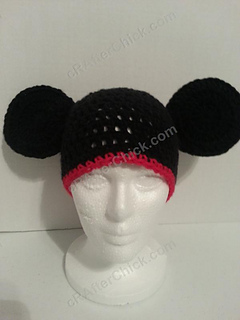 Ravelry Mickey Mouse Oversized Ears Beanie Pattern By