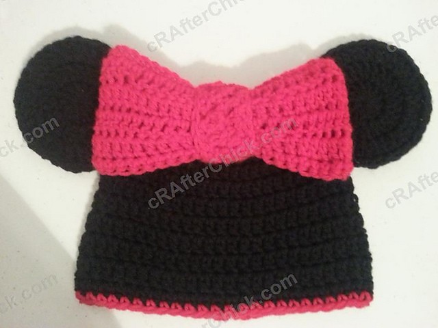 Ravelry Minnie Mouse Oversized Ears And Bow Beanie Pattern By Niki Wyre