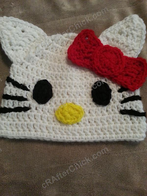 Ravelry Hello Kitty Beanie Pattern By Niki Wyre