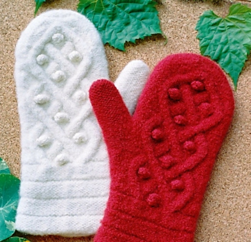 Ravelry Aran Felted Mittens 132 Pattern By Shirl The Purl