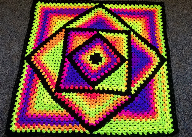 Ravelry: cablesqueen\'s Grand Daddy of Granny Square Lapghan.