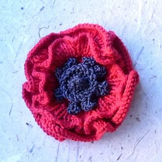 Knitted Poppy Flower Pattern Flowers Healthy
