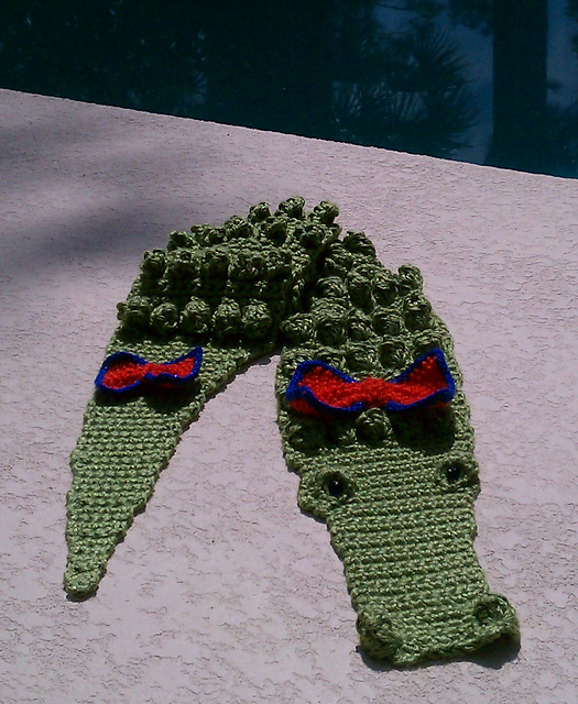 Ravelry Crocheted Alligator Scarf Pattern By Kathy S