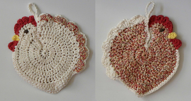 Ravelry Speckled Hen Potholder Pattern By Christine Ciliberto