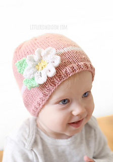Darice_baby_acrylic_yarn_daisy_flower_hat_knitting_pattern_03_littleredwindow_small2