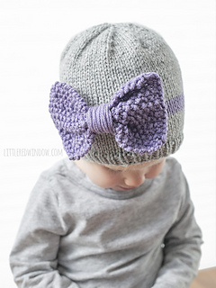 e05060875 Ravelry  Big Bow Baby Hat pattern by Cassandra May