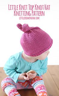 df966e4ec Ravelry  Little Knit Top Knot Hat pattern by Cassandra May