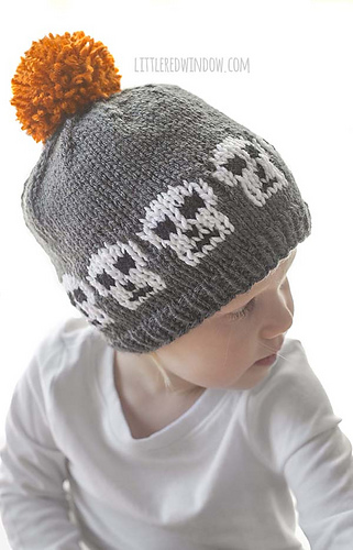 fdada5a525d Ravelry  Halloween Skull Hat pattern by Cassandra May