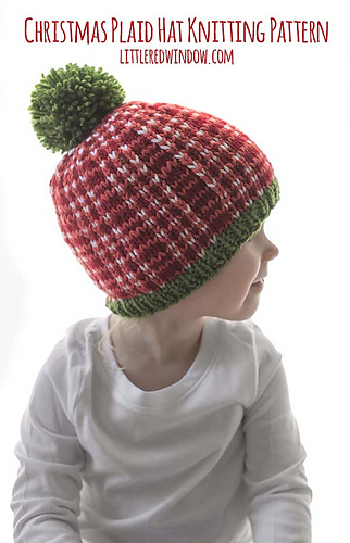 01a4b81f2 Ravelry: Christmas Plaid Baby Hat #2 pattern by Cassandra May