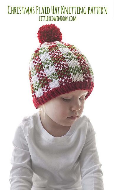97460aee07b Ravelry  Christmas Plaid Baby Hat  3 pattern by Cassandra May